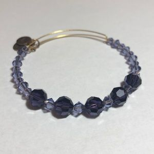 ALEX AND ANI Assorted Swarovski Bangle, Amethyst